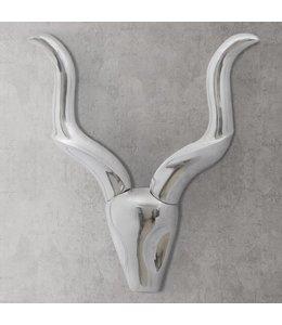 Muurdecoratie Gazellenkop Zilverkleurig 61 cm