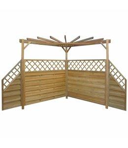 Pergola 256x256x225 cm geïmpregneerd grenenhout