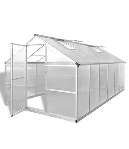 Tuinkas versterkt aluminium met basisframe 9,025 m²