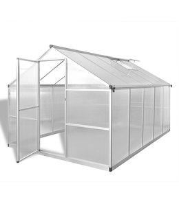 Tuinkas versterkt aluminium met basisframe 7,55 m²