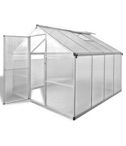 Tuinkas versterkt aluminium met basisframe 6,05 m²