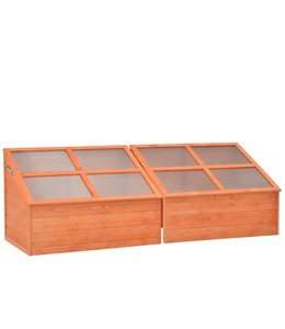 Broeikas 180x57x62 cm hout