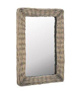 Spiegel 40x60 cm wicker bruin