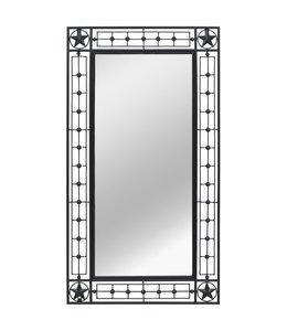 Wandspiegel rechthoekig 60x110 cm zwart