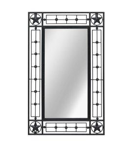 Wandspiegel rechthoekig 50x80 cm zwart