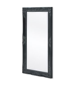 Wandspiegel Barok 100 x 50 cm zwart