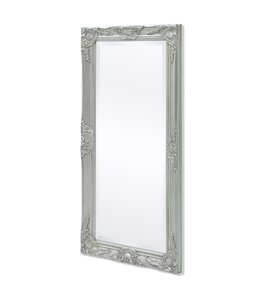 Wandspiegel Barok 100 x 50 cm zilver