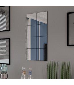 Spiegeltegels frameloos 8 st 20,5 cm glas