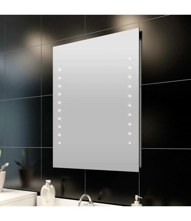 Badkamerspiegel met LED's 50x60 cm