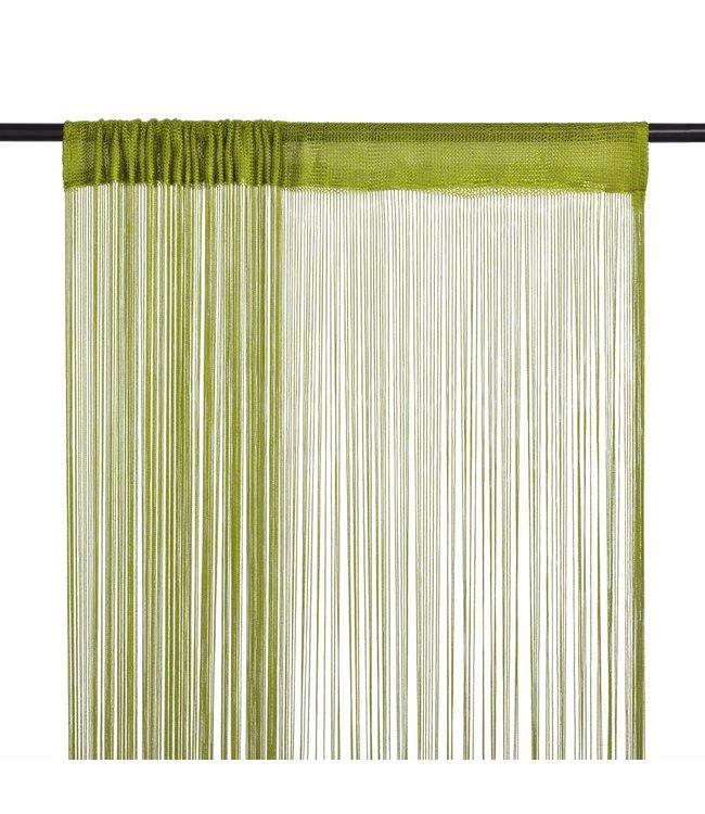 Draadgordijnen 100x250 cm groen 2 st
