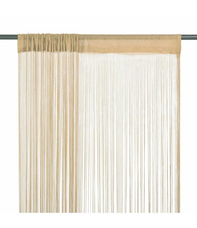 Draadgordijnen 100x250 cm beige 2 st