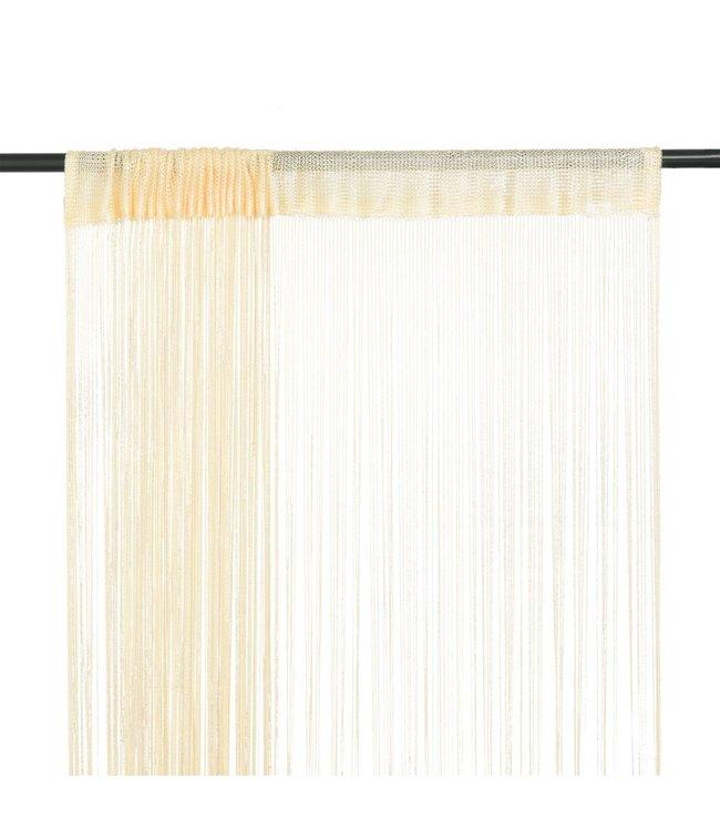 Draadgordijnen 100x250 cm crème 2 st