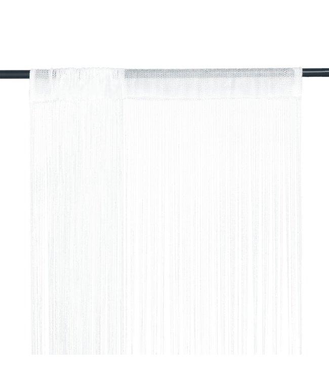 Draadgordijnen 2 st 100x250 cm wit