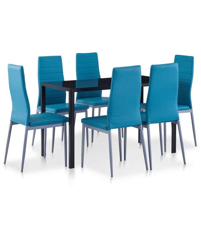 7-delige Eethoek blauw