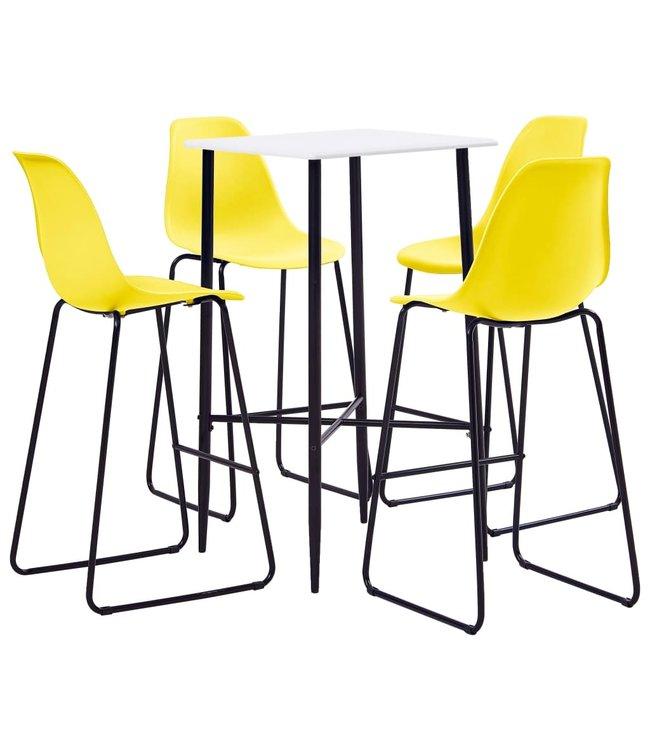5-delige Barset kunststof geel