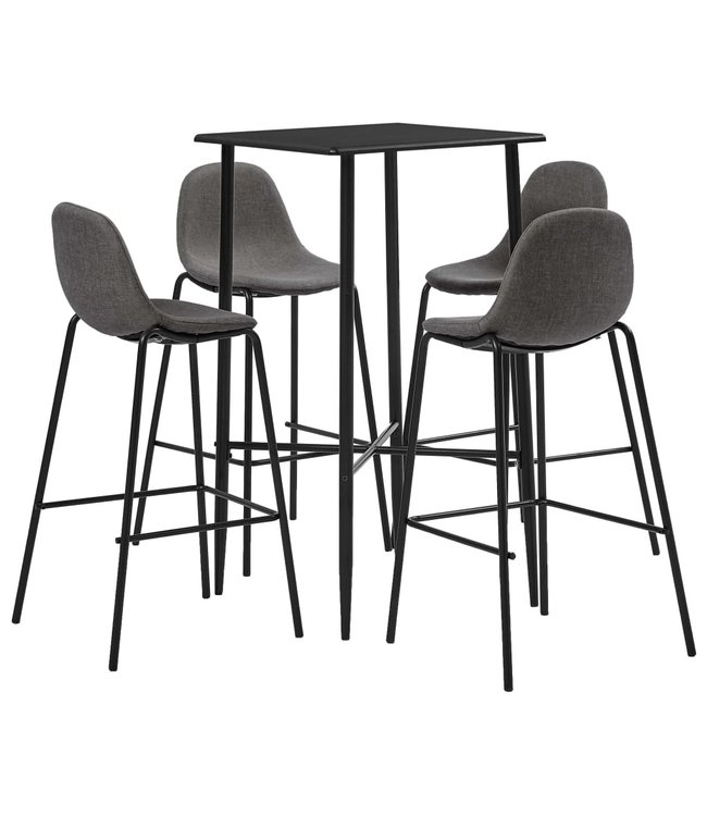 5-delige Barset stof taupe
