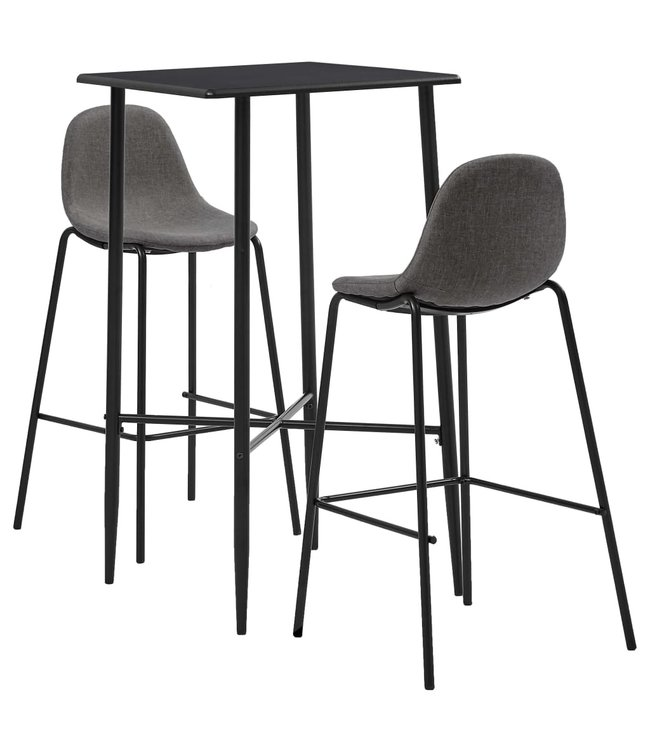 3-delige Barset stof taupe