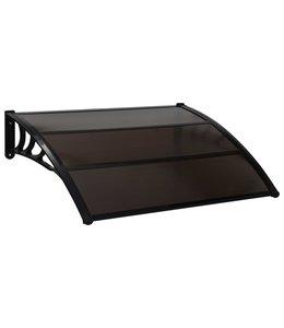Deurluifel 120x100 cm kunststof zwart