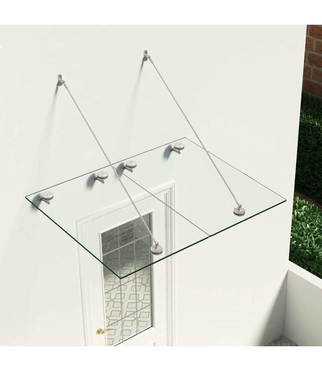 Deurluifel voordeur VSG veiligheidsglas 120x90 cm roestvrij staal