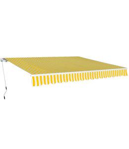 Luifel handmatig uitschuifbaar 600 cm geel/wit