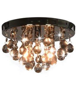 Plafondlamp met smoky kralen