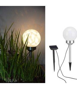 HI Tuinlicht LED bal roterend 15 cm