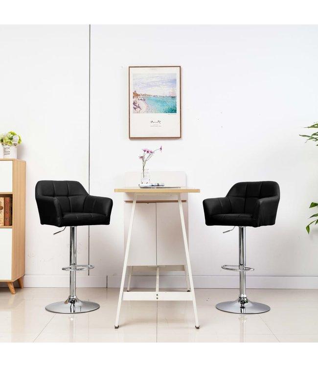 Barstoel met armleuning kunstleer zwart