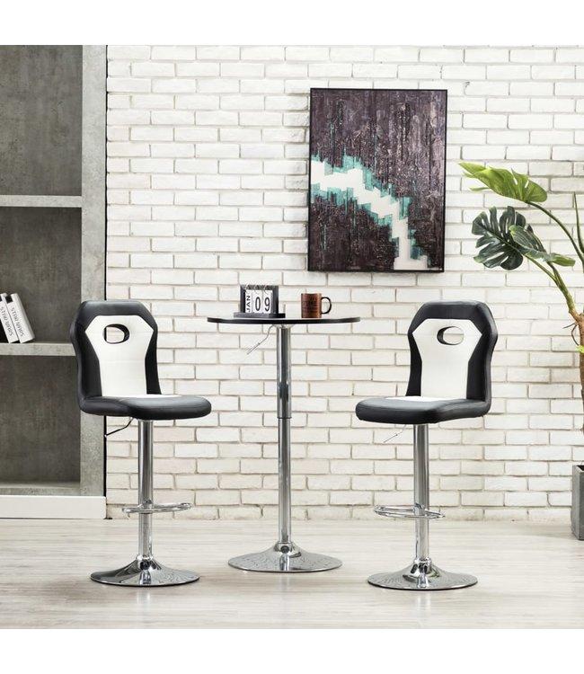 2 st Barstoelen kunstleer wit