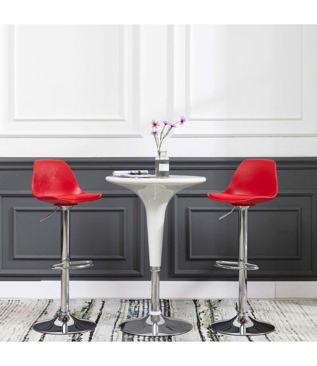 Barstoelen 2 st kunstleer rood