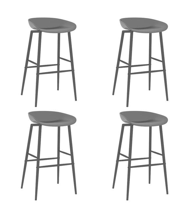 Barstoelen 4 st zwart