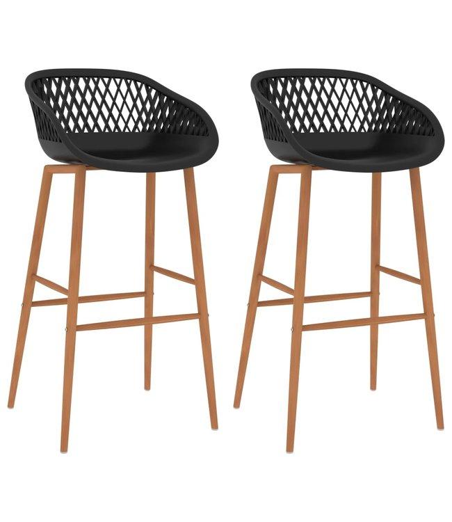 Barstoelen 2 st zwart