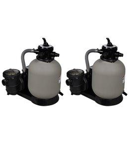 Zandfilterpompen 2 st 600 W 17000 L/u