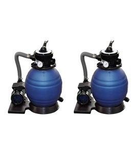 Zandfilterpompen 2 st 400 W 11000 L/u