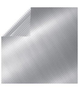 Zwembadhoes rechthoekig 1000x600 cm PE zilverkleurig