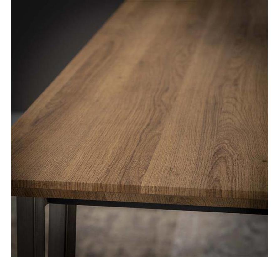Industriële eetkamertafel Johan MDF 240 x 100 cm MDF hout