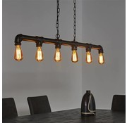 Industriële hanglamp Mack 6-lichts