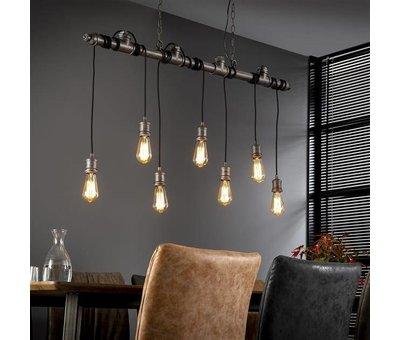 Fabrieks hanglamp  buis Jase 7-lichts