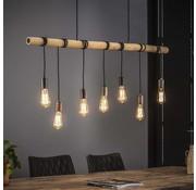 Hanglamp Flo 7-lichts bamboe