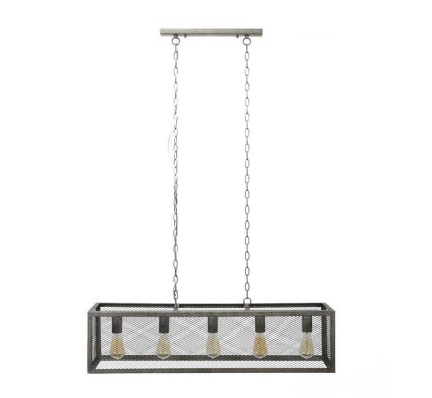 Industriële hanglamp Lexi 5-lichts