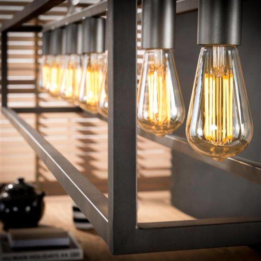 Industriële hanglamp Marley 7-lichts zilver