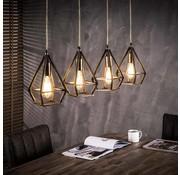 Hanglamp Erin 4-lichts brons