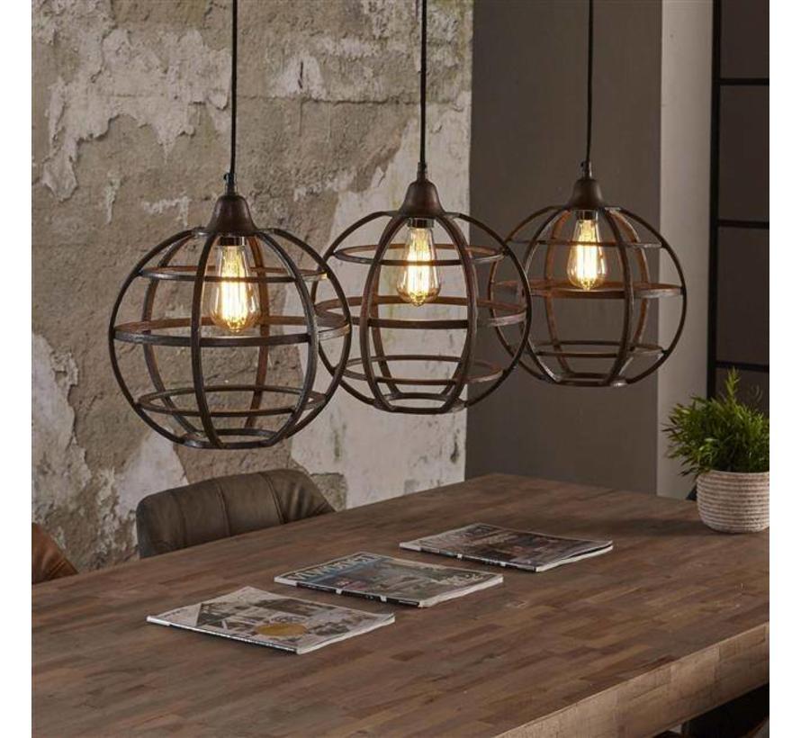 Industriele Lamp Boven Ronde Tafel.Industriele Hanglamp Gracie 3 Lichts Gratis Verzending
