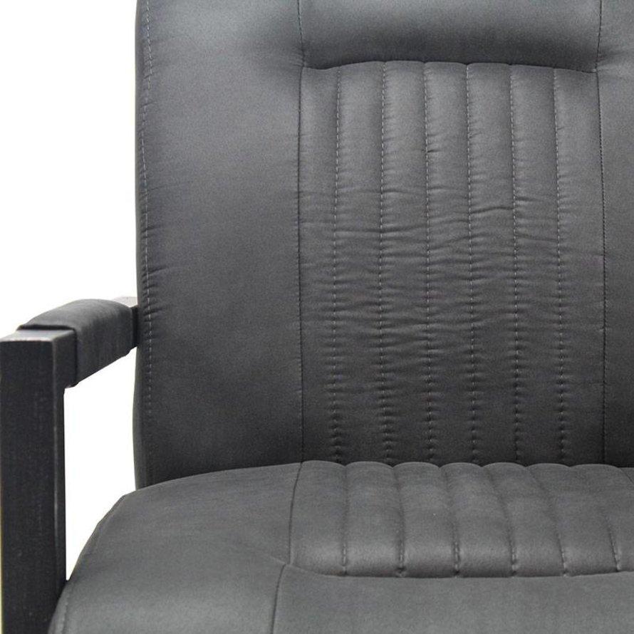 Industriële fauteuil Austin zwart microvezel
