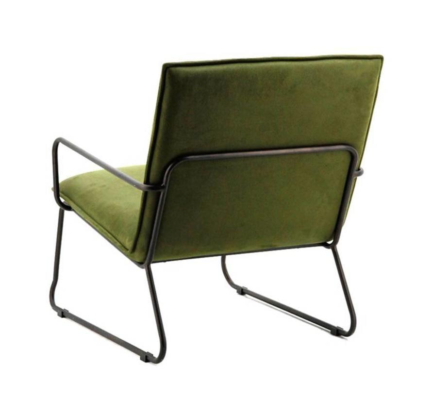 industriële  fauteuil Delta groen
