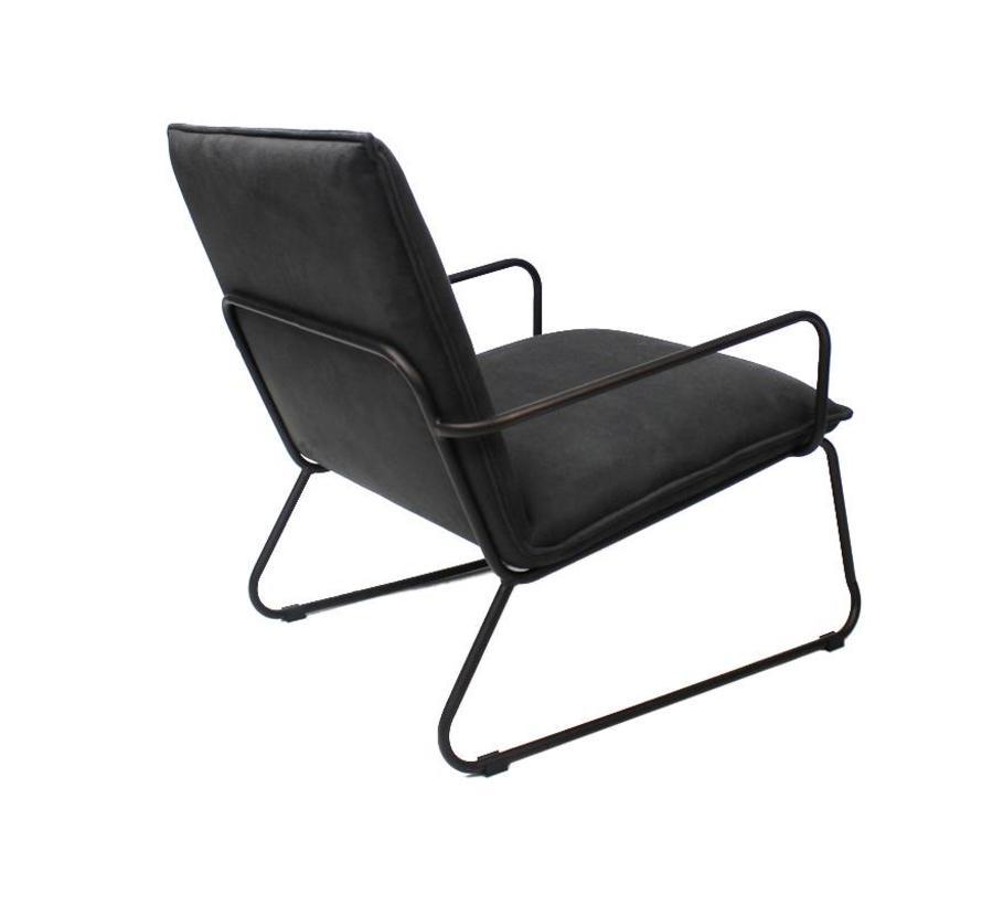 industriële  fauteuil Delta antraciet
