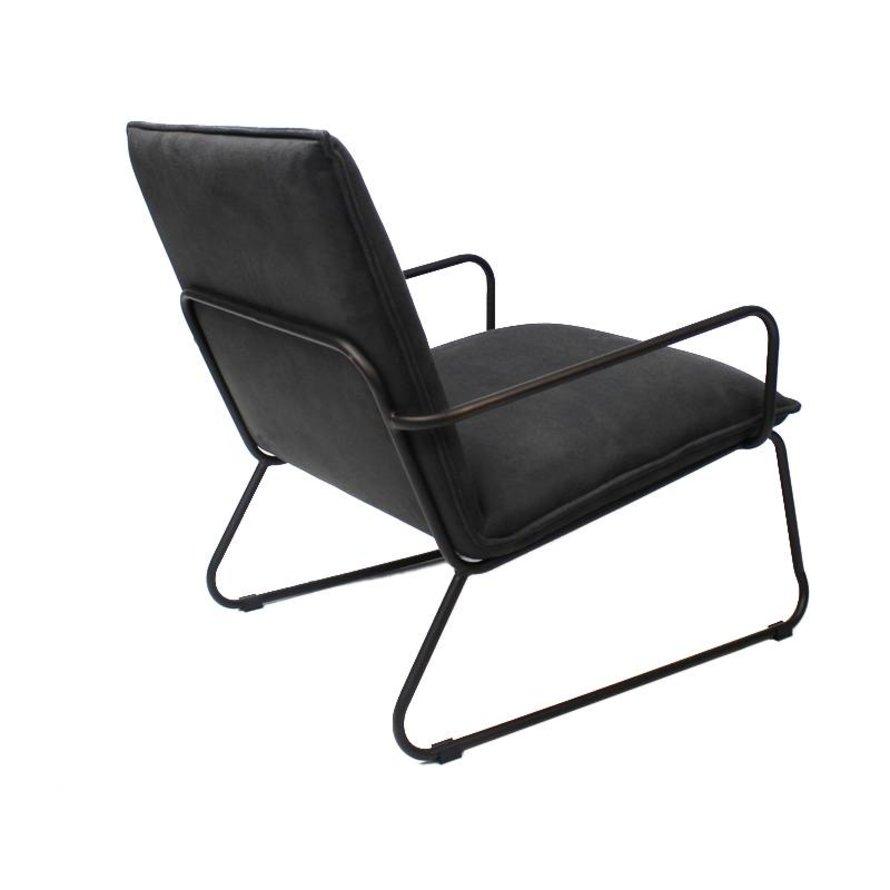 Industriële fauteuil Lucas antraciet