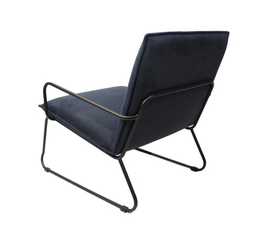 Industriële fauteuil Lucas blauw