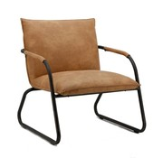 Eleonora fauteuil Steve cognac