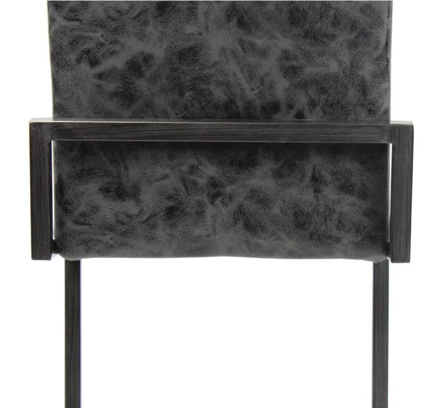 Industriële barkruk David zwart PU Leder 78 cm