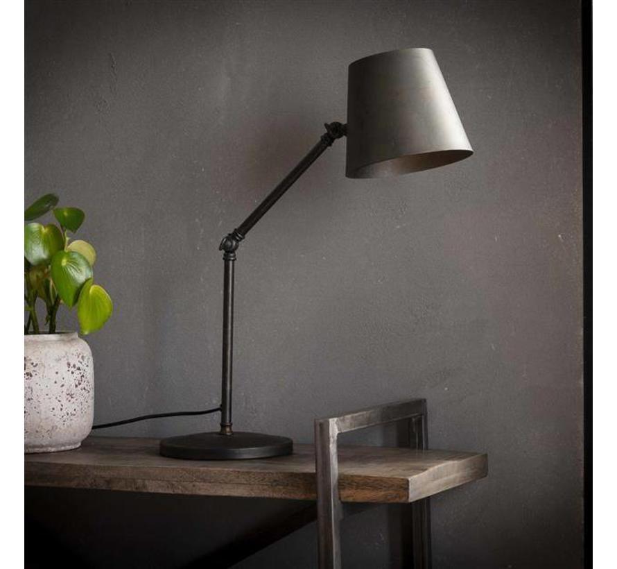 Industriële tafellamp Bruce charcoal